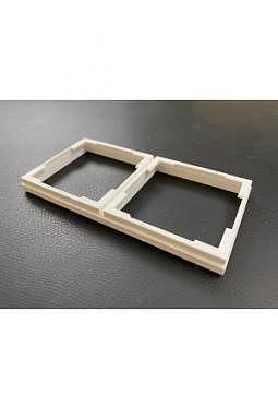 2x1 U-Lux Display Innen Rahmen + 2x1 Aussenrahmen